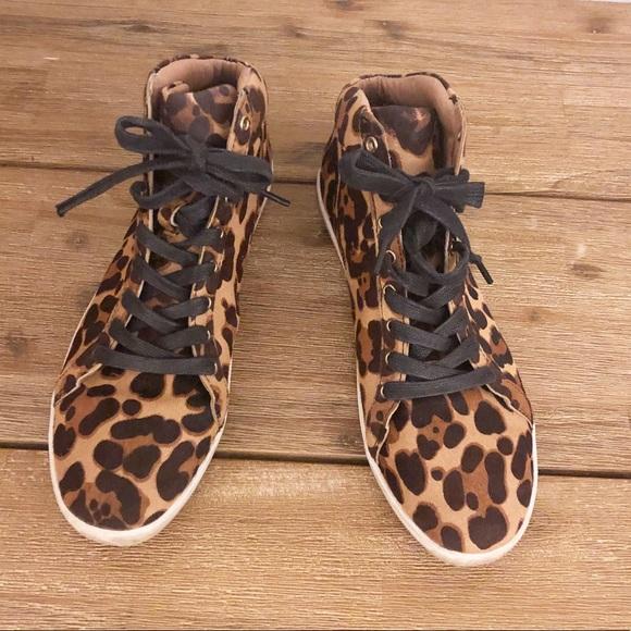 Cheetah Print Calf Hair Sneakers 95